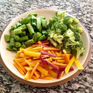 Veggies on plate