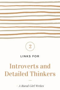 2 Links for Introverts and Detailed Thinkers.
