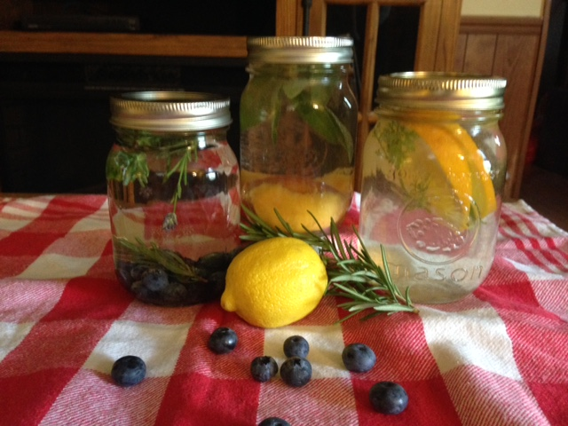DIY water infusions.