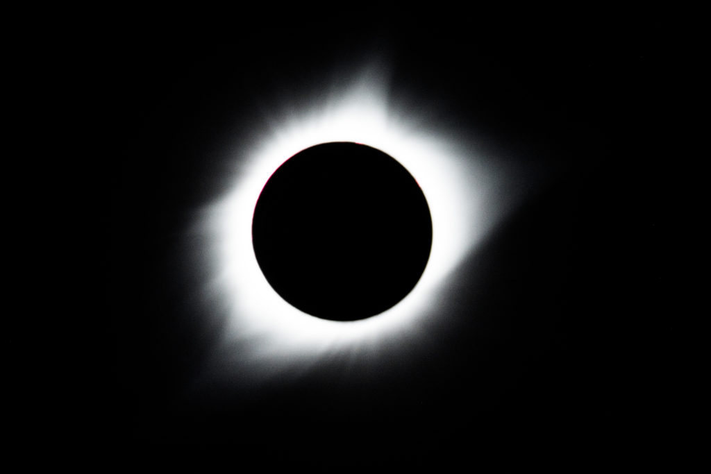 Totally eclipsing.