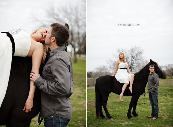 olivia and bobby's farm engagement session with a horse and chess set in ennis texas by dallas wedding photographer amy karp (21)