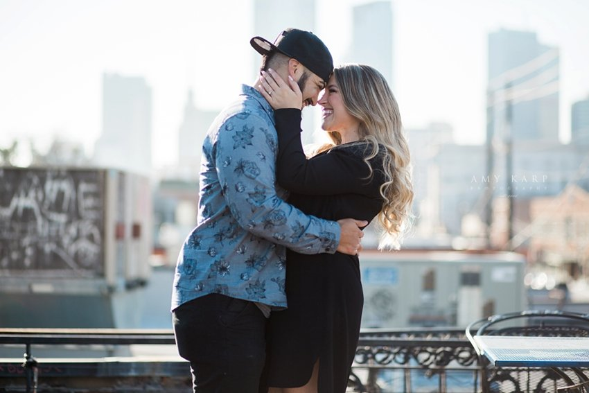 Downtown Dallas engagement photography in Deep Ellum