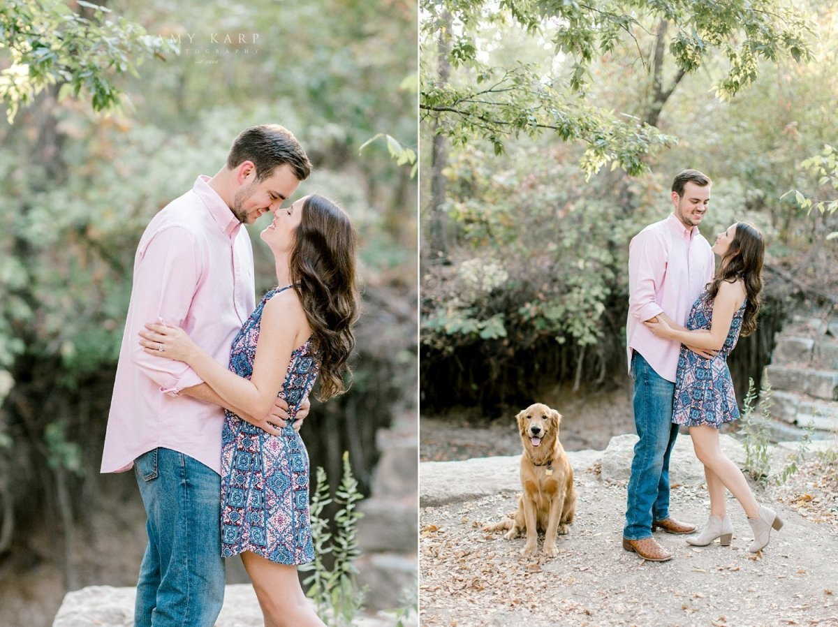 plano engagement photography at arbor hills by dallas wedding photographer amy karp