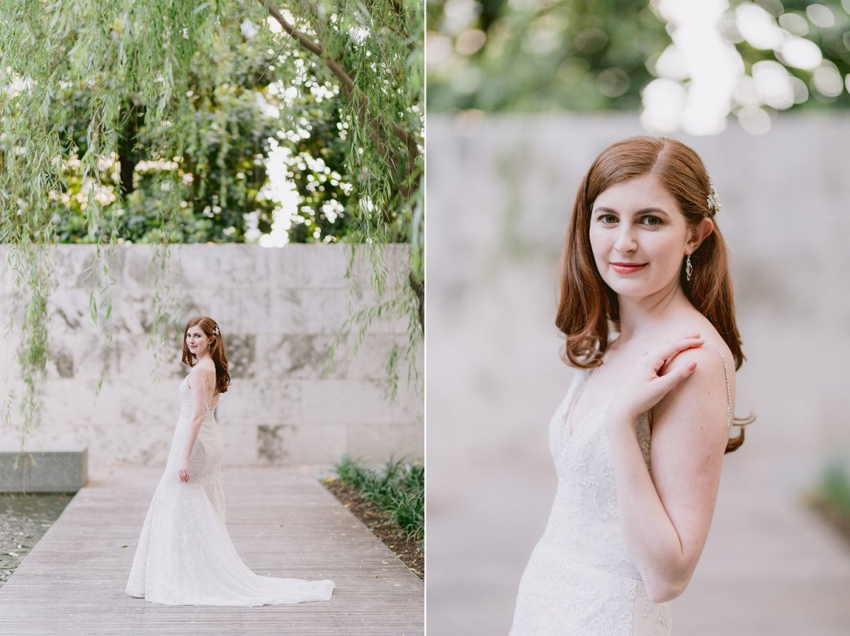 dallas nasher sculpture gardens bridal portraits