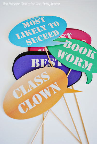 Printable Back To School Photo Props