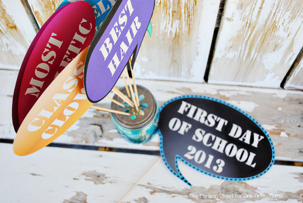 Props for Back To School Photos plus a Printable