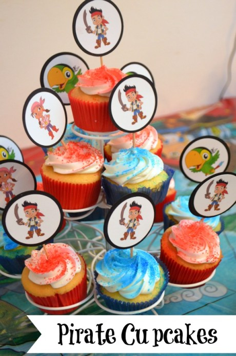 pirate party cupcakes