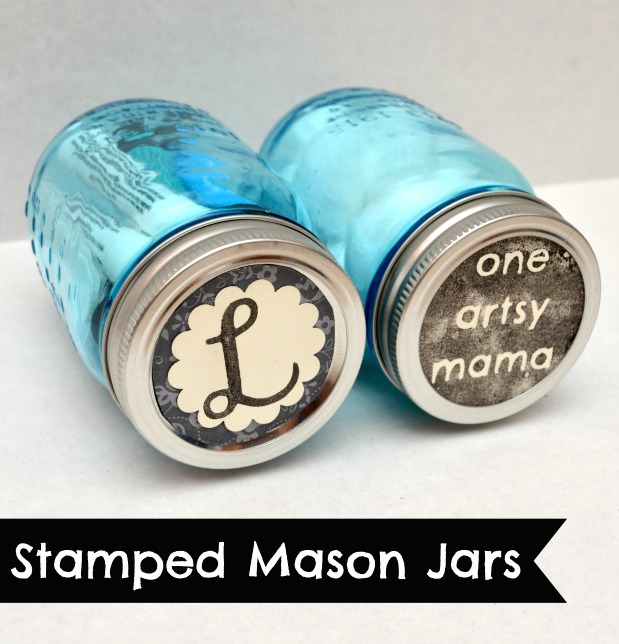 Stamped Mason Jars