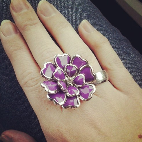Charming Charlies flower ring