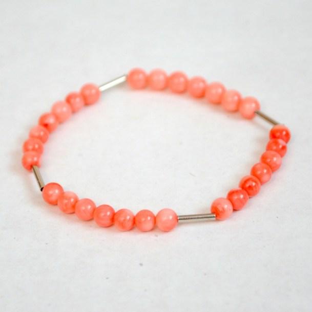 coral stacking bracelet
