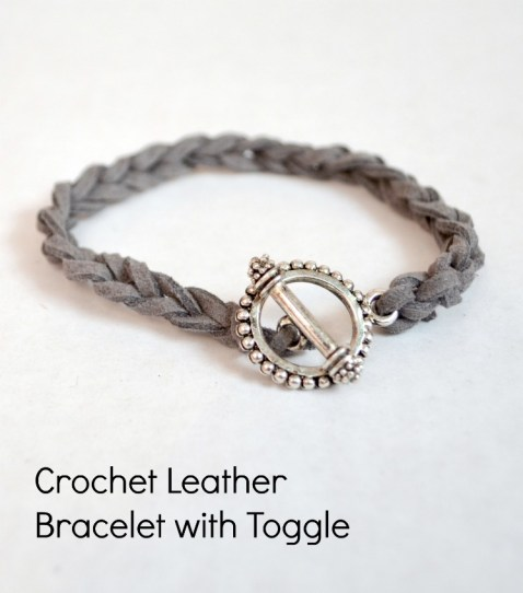 Crochet Leather Stacking Bracelet