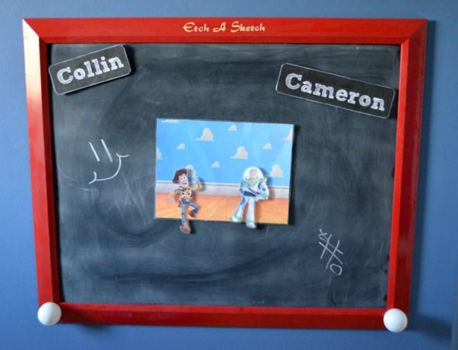 Etch-a-Sketch Chalkboard