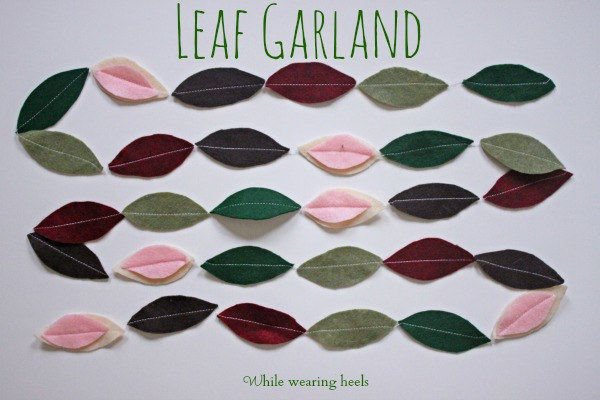 leaf garland 013ps
