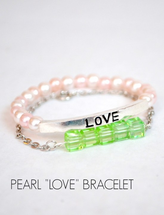 Pearl Love Stacking Bracelet