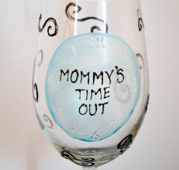 Mommy's Time Out Glass
