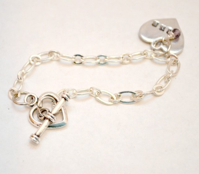 Beloved Heart Bracelet in Hebrew