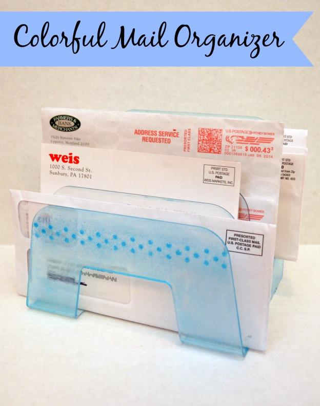 Mod Podge Sheers: Mail Organizer