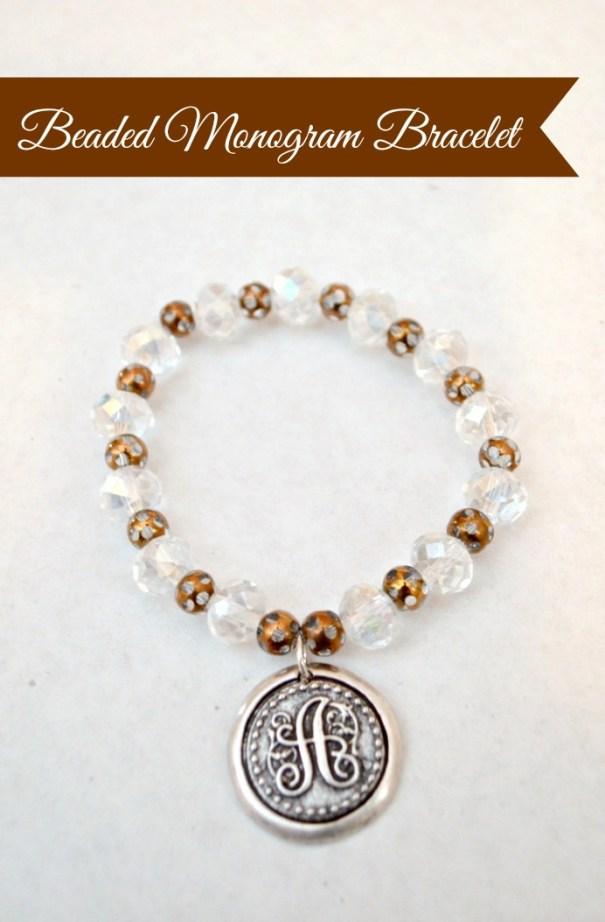 Beaded Monogram Bracelet