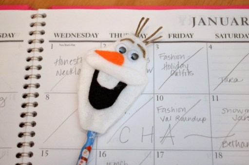 Olaf pencil topper