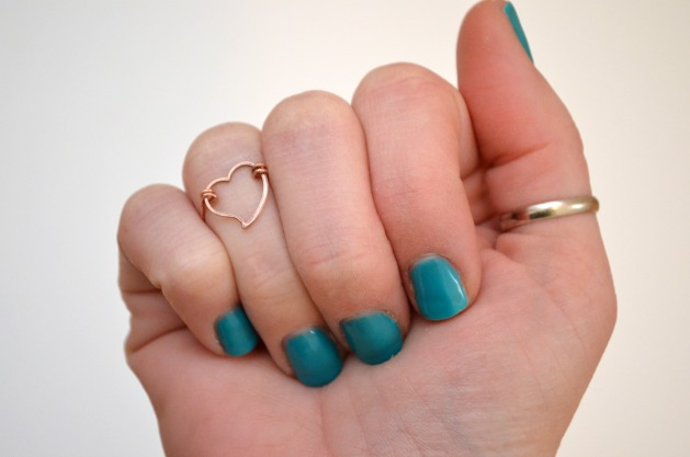 DIY Heart Midi Ring