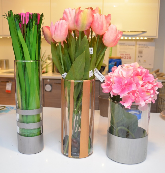 Metallic Accent Vases