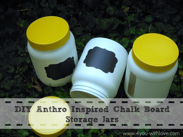 DIY Anthro Inspired Chal Board Storage Jars
