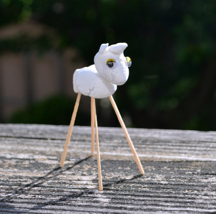 Clay Unicorn Sculpture
