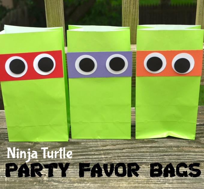 Teenage Mutant Ninja Turtle Party Favor Bags