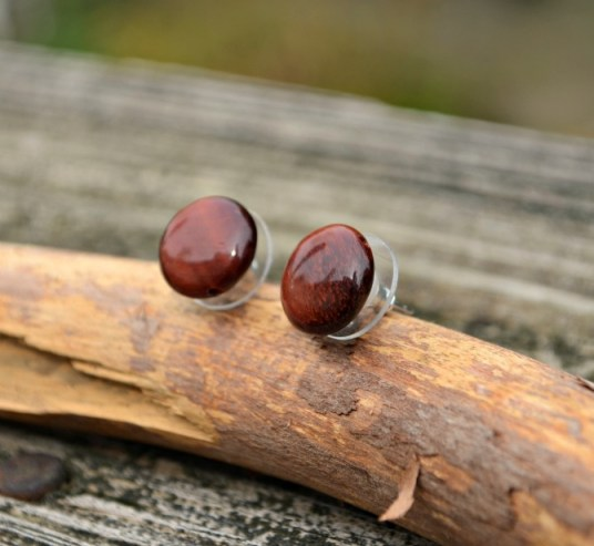 Tiger Eye Post Earrings