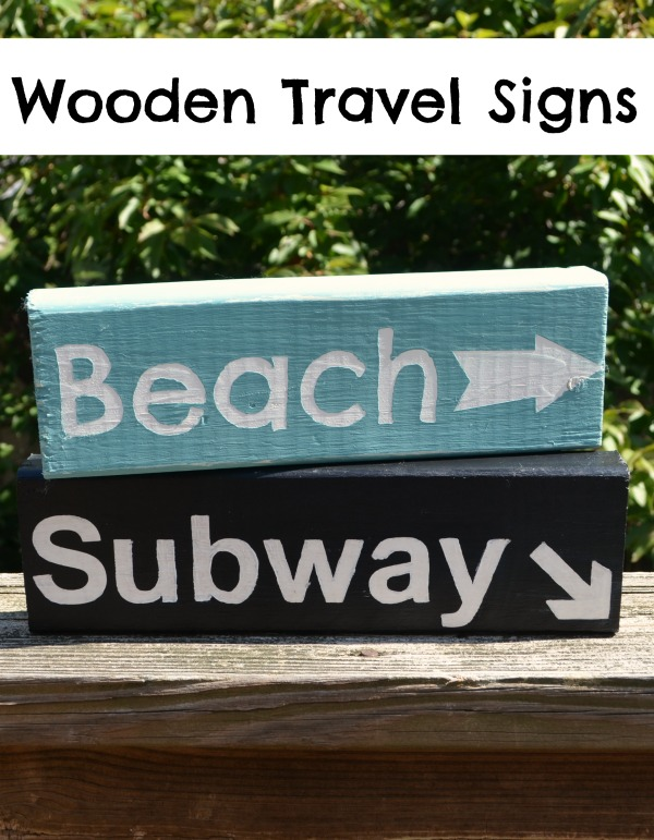 Wooden Travel Signs