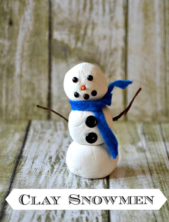 Clay Snowmen