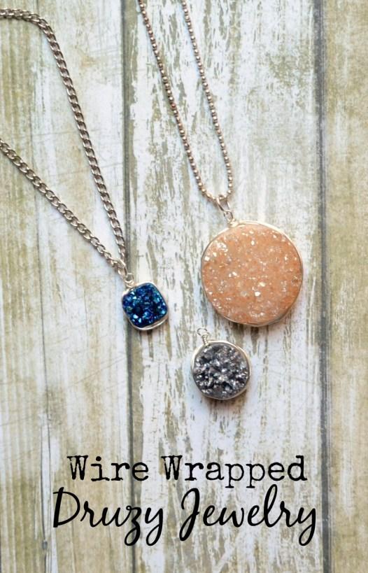 Wire Wrapped Druzy Jewelry