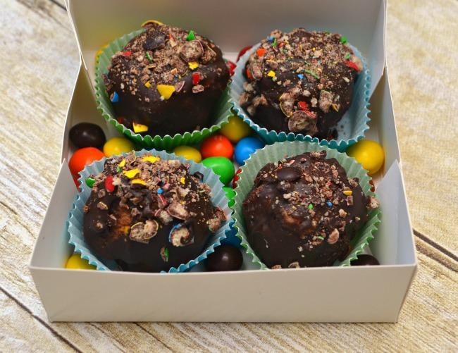 M&M Cake Balls