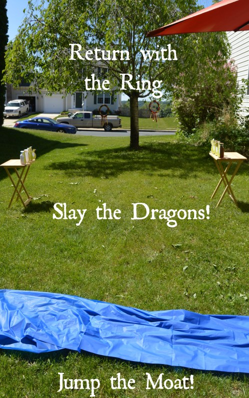Knights and Dragons Party: Jousting Obstacle Course