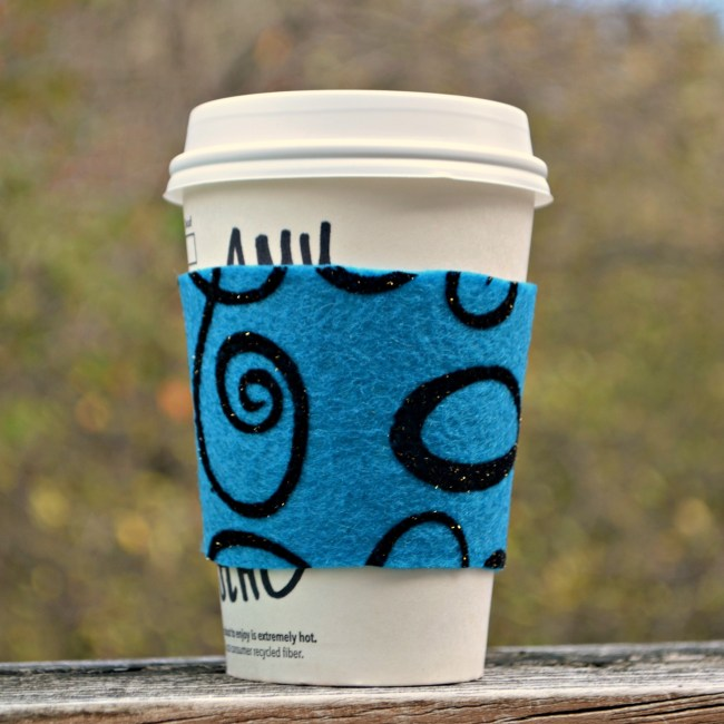 No Sew Felt Coffee Cozy