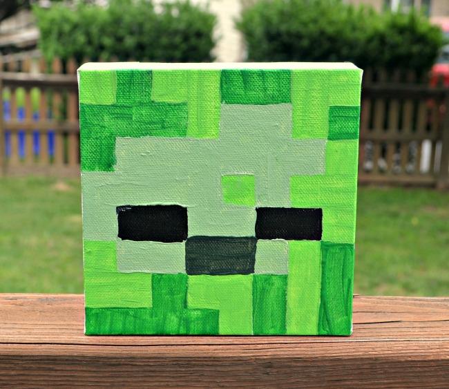 Minecraft Canvas Zombie
