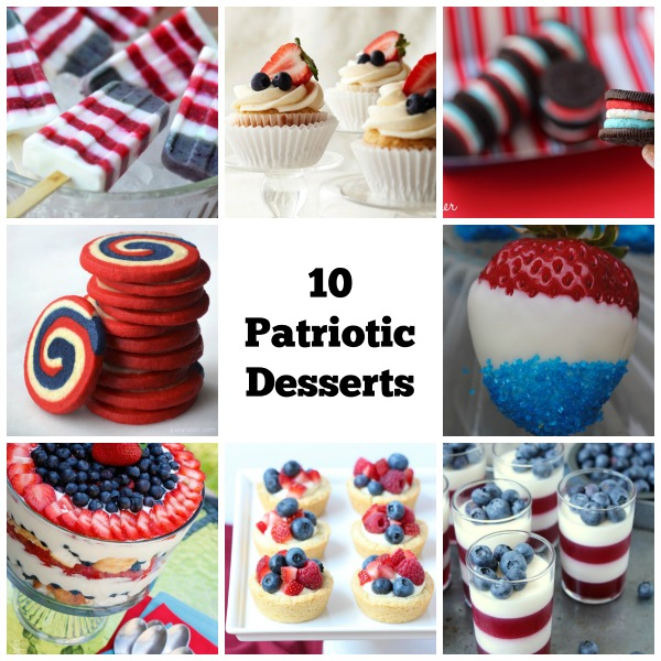 10 Patriotic Red White and Blue Desserts