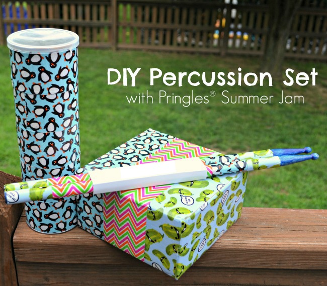 DIY Percussion Set with Pringles Summer Jam