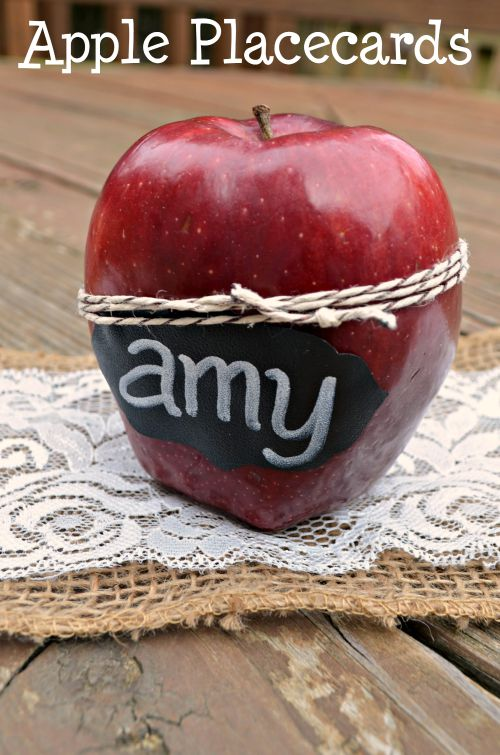 Apple Place Cards for Thanksgiving