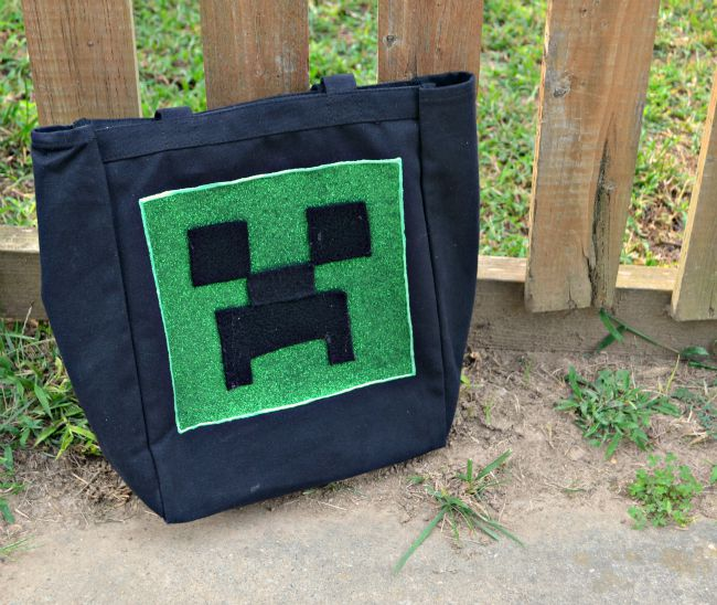 DIY Minecraft Creeper Tote Bag