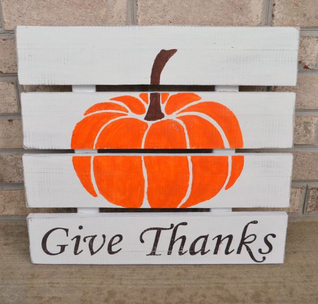 Rustic Pumpkin Sign