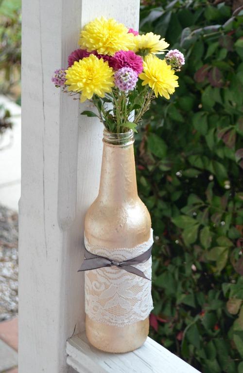 Metallic Bottle Vase