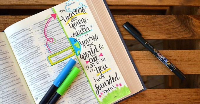 Bible Journaling and a Giveaway - Amy Latta Creations