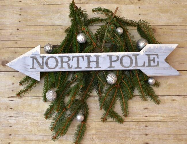 North Pole Arrow Sign
