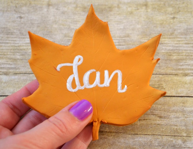 Clay Leaf Thanksgiving Place Cards