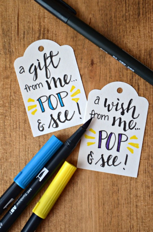 Hand Lettering Gift Tags