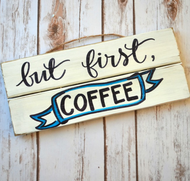 Coffee Sign with Hand Lettering