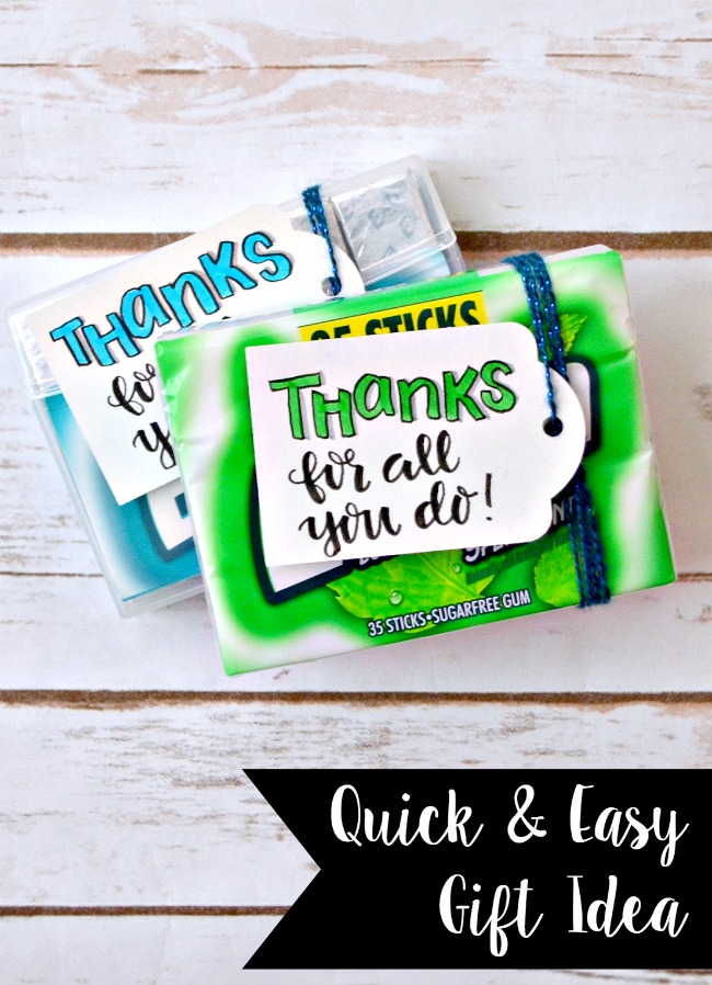 Extra Gum Hand Lettered Gift