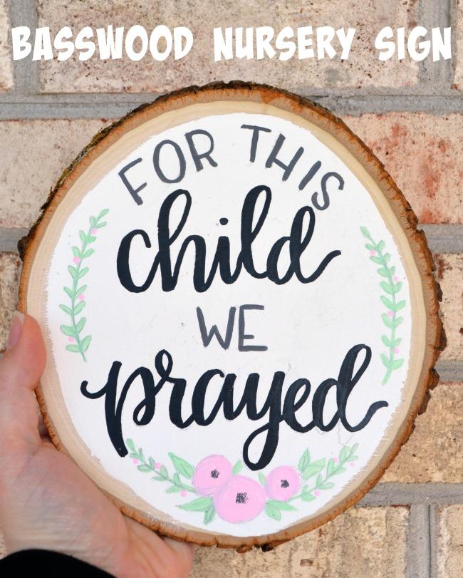 Hand Lettered Nursery Sign