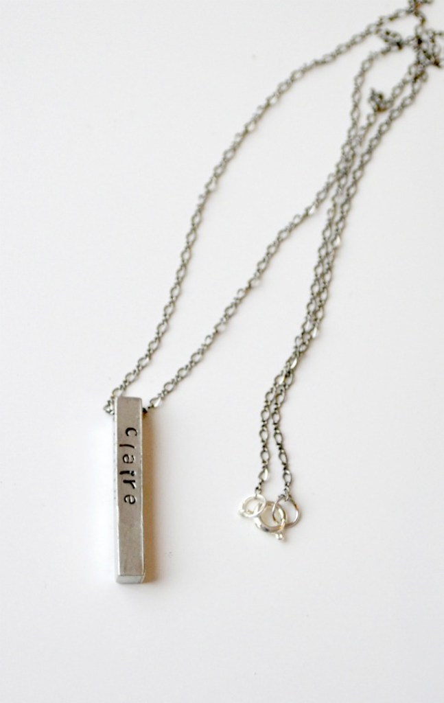 Metal Stamped Necklace for Mothers